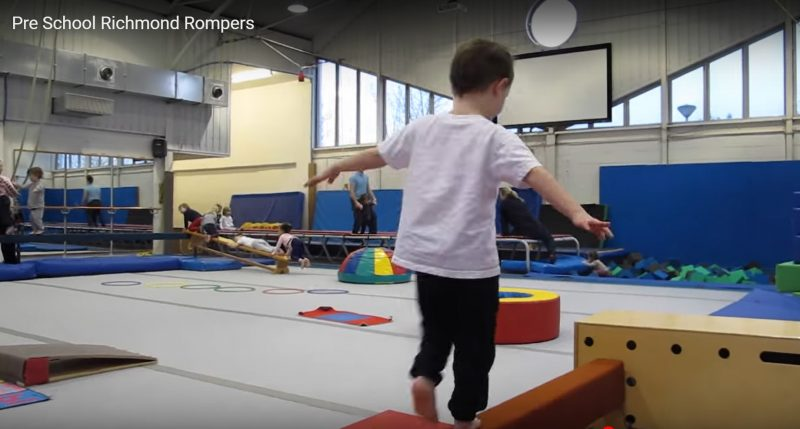 child walking on beam