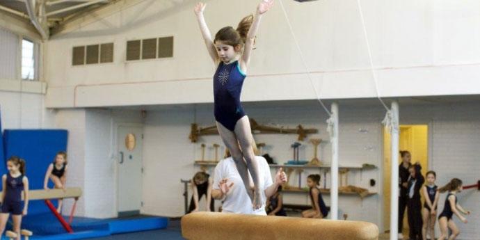 girl gymnastics vault